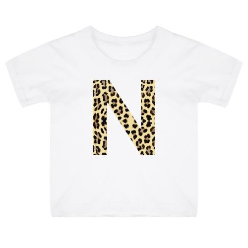 KIDZ DISTRICT LEOPARD INITIAL KIDS T-SHIRT
