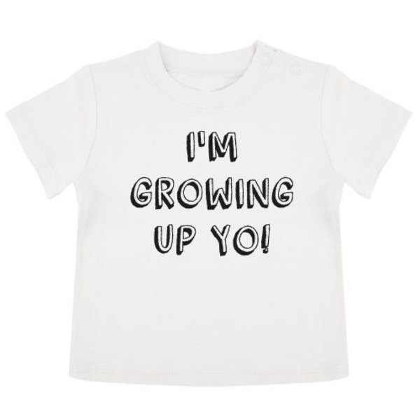 GROWING UP BIRTHDAY BABY T-SHIRT