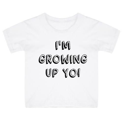 KIDZ DISTRICT GROWING UP BIRTHDAY KIDS T-SHIRT