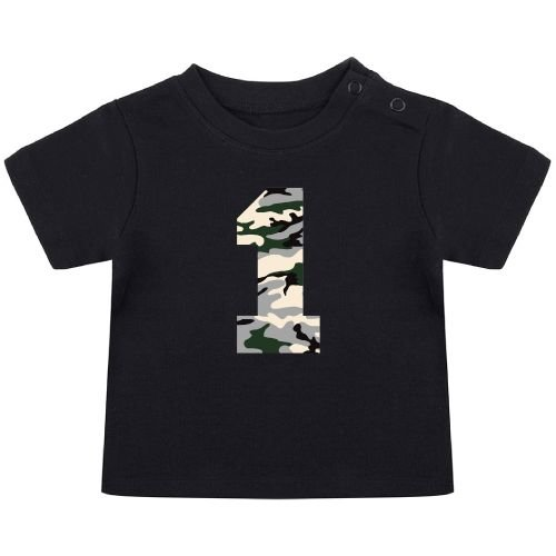 KIDZ DISTRICT CAMO BIRTHDAY BABY T-SHIRT
