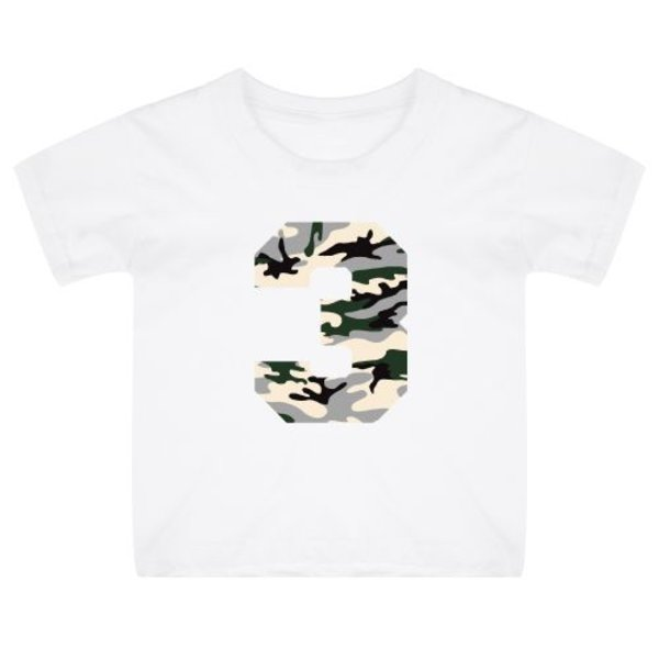 CAMO BIRTHDAY KIDS T-SHIRT
