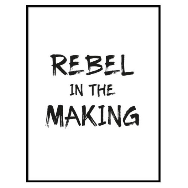 REBEL IN THE MAKING POSTER