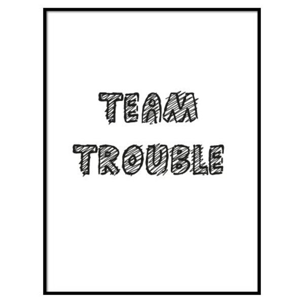 TEAM TROUBLE POSTER