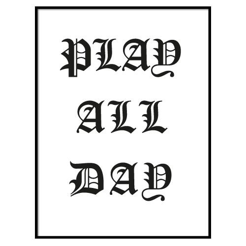 KIDZ DISTRICT PLAY ALL DAY POSTER