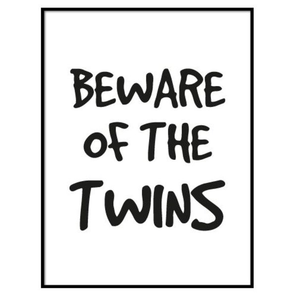 BEWARE OF THE TWINS POSTER