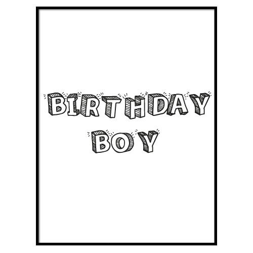 KIDZ DISTRICT BIRTHDAY BOY VERJAARDAGSPOSTER