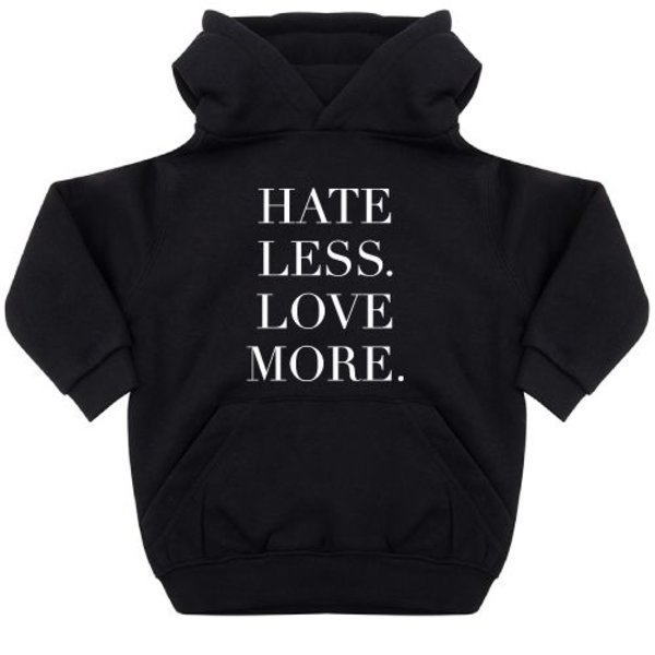 HATE LESS LOVE MORE KIDS HOODIE
