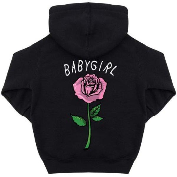 BABYGIRL ROSE KIDS HOODIE