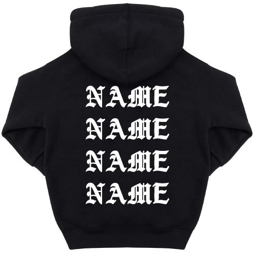 KIDZ DISTRICT PABLO NAME KIDS HOODIE (GEPERSONALISEERD)