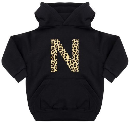 KIDZ DISTRICT LEOPARD INITIAL KIDS HOODIE