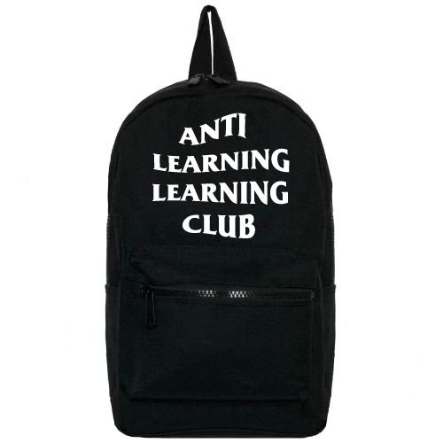 KIDZ DISTRICT ANTI LEARNING CLUB BACKPACK