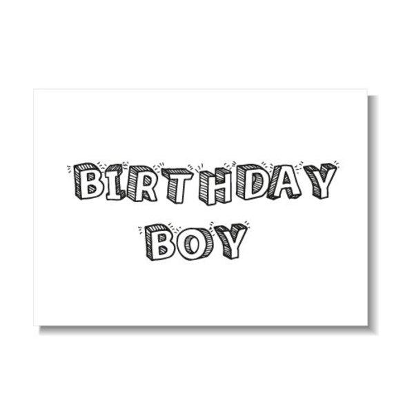 BIRTHDAY BOY KAART