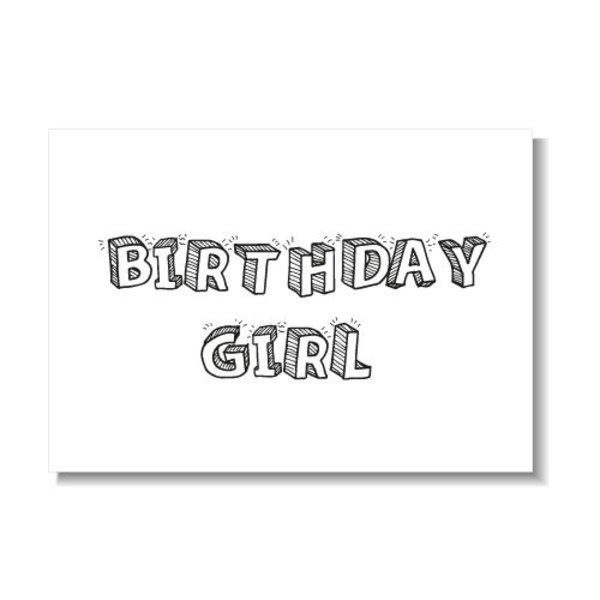 BIRTHDAY GIRL KAART