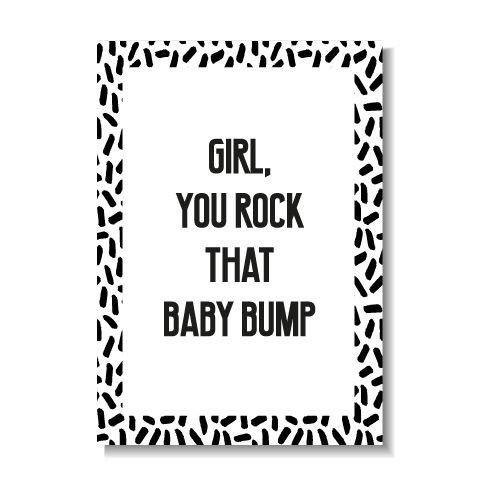 KIDZ DISTRICT YOU ROCK THAT BABY BUMP KAART