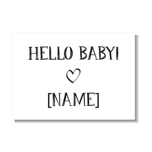 KIDZ DISTRICT HELLO BABY KAART (GEPERSONALISEERD)