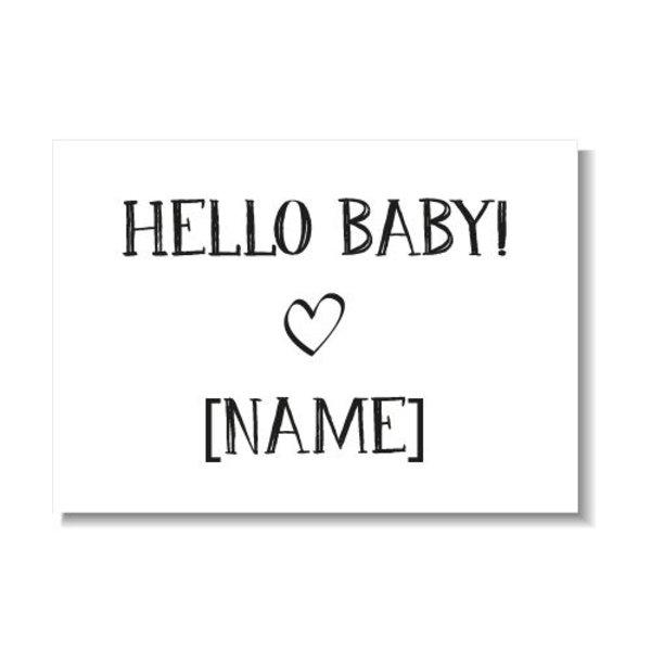 HELLO BABY KAART (GEPERSONALISEERD)