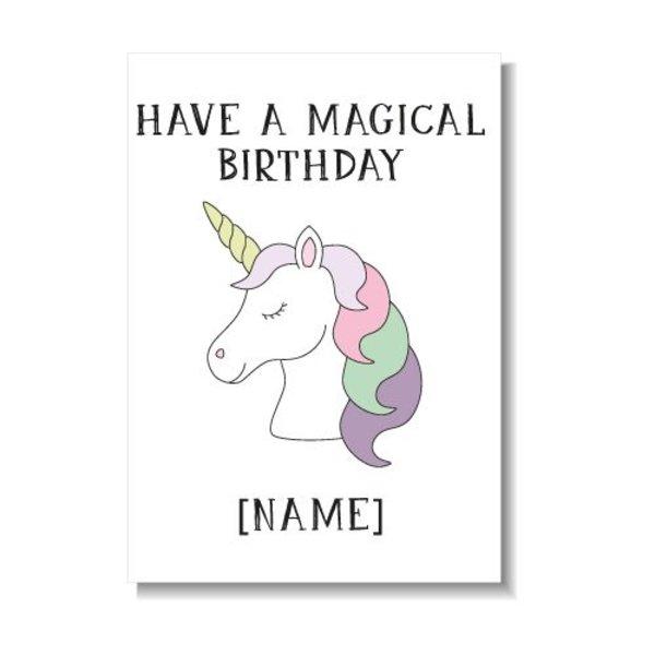 HAVE A MAGICAL BIRTHDAY KAART (GEPERSONALISEERD)
