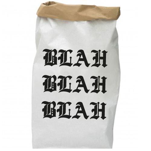 KIDZ DISTRICT BLAH BLAH BLAH PAPER BAG