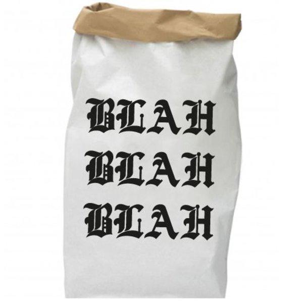 BLAH BLAH BLAH PAPER BAG