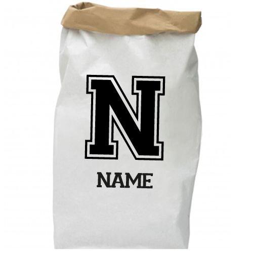 KIDZ DISTRICT VARSITY NAME PAPER BAG (GEPERSONALISEERD)