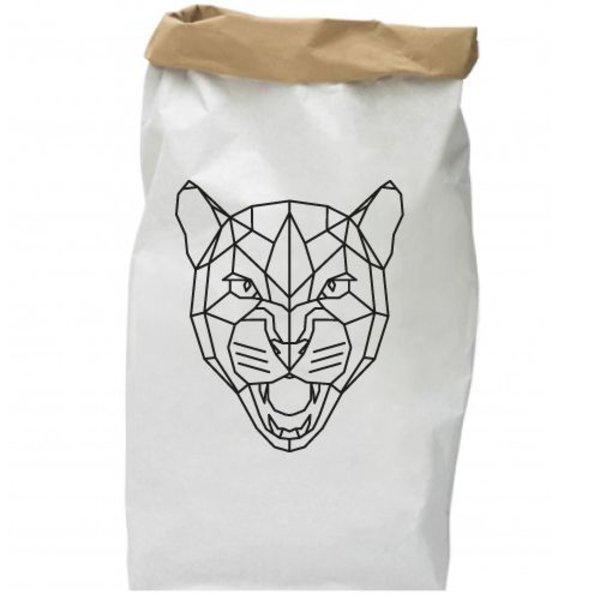 LEOPARD HEAD PAPER BAG