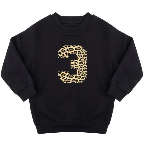 KIDZ DISTRICT LEOPARD BIRTHDAY SWEATER