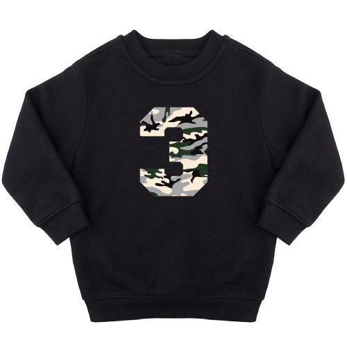 KIDZ DISTRICT CAMO BIRTHDAY SWEATER
