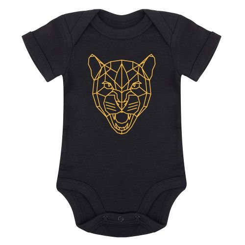 KIDZ DISTRICT LEOPARD HEAD OCHRE ROMPER
