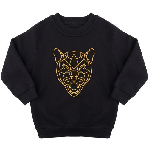 KIDZ DISTRICT LEOPARD HEAD OCHRE SWEATER
