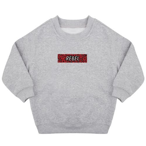 KIDZ DISTRICT REBEL LEOPARD BOX SWEATER