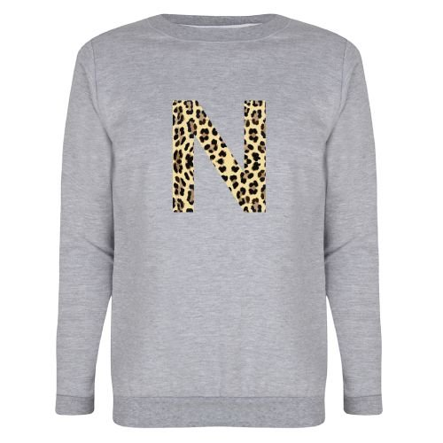 KIDZ DISTRICT LEOPARD INITIAL MOM SWEATER (GEPERSONALISEERD)