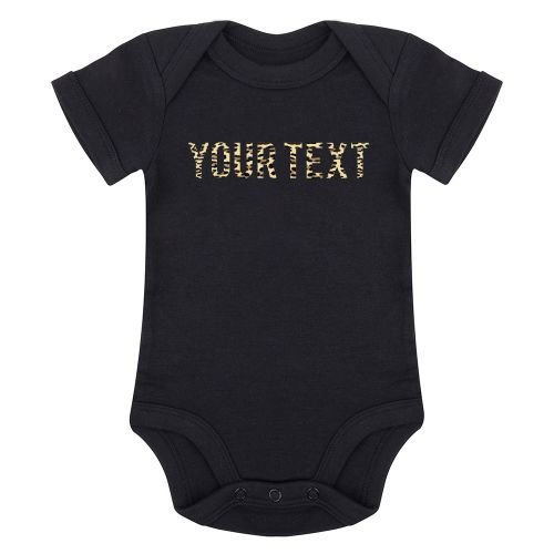 KIDZ DISTRICT LEOPARD TEXT ROMPER (GEPERSONALISEERD)