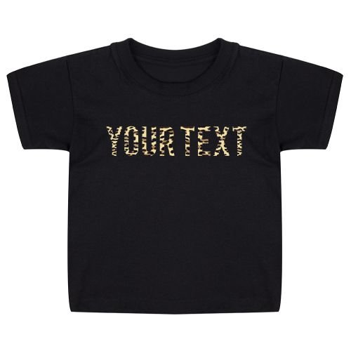 KIDZ DISTRICT LEOPARD TEXT KIDS T-SHIRT (GEPERSONALISEERD)