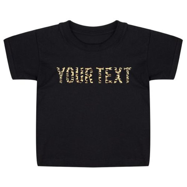 LEOPARD TEXT KIDS T-SHIRT (GEPERSONALISEERD)