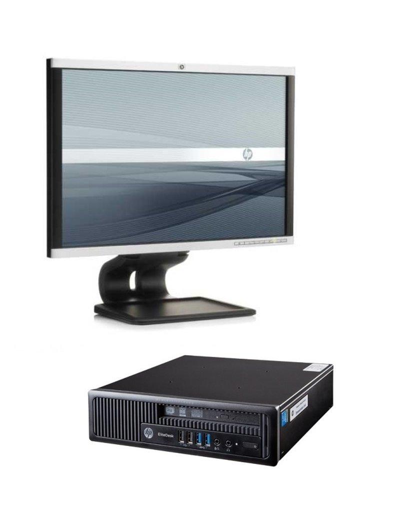 HP ELITEDESK 800 USDT CORE I5& 22 INCH MONITOR