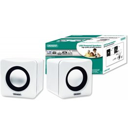 EMINENT USB POWERED SPEAKERS WHITE