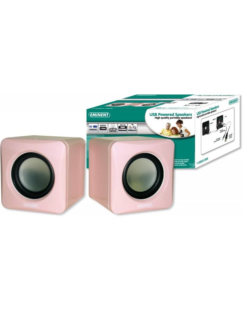 EMINENT USB POWERED SPEAKERS PINK