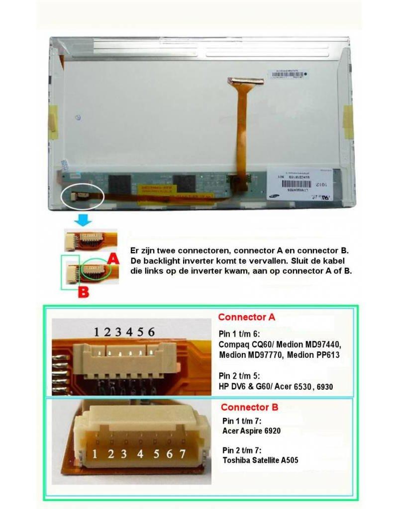 "LCD Scherm 16,0"" 1366x768 WXGA Glossy Widescreen (conversie set)"