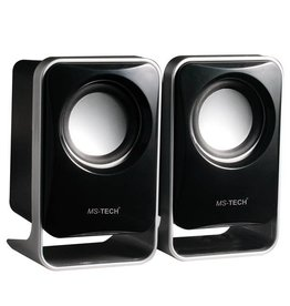 MS-TECH USB POWERED SPEAKERS BLACK