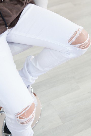 Sixth June White Ripped Jeans