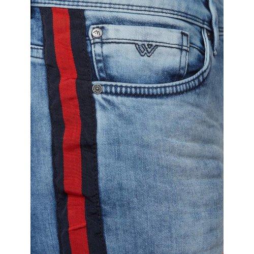 Purewhite Purewhite Short Blue/Red Stripe