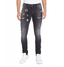 Purewhite Purewhite Powerflex Jeans With Patches