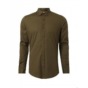 Purewhite Purewhite LS Shirt Army Slim fit