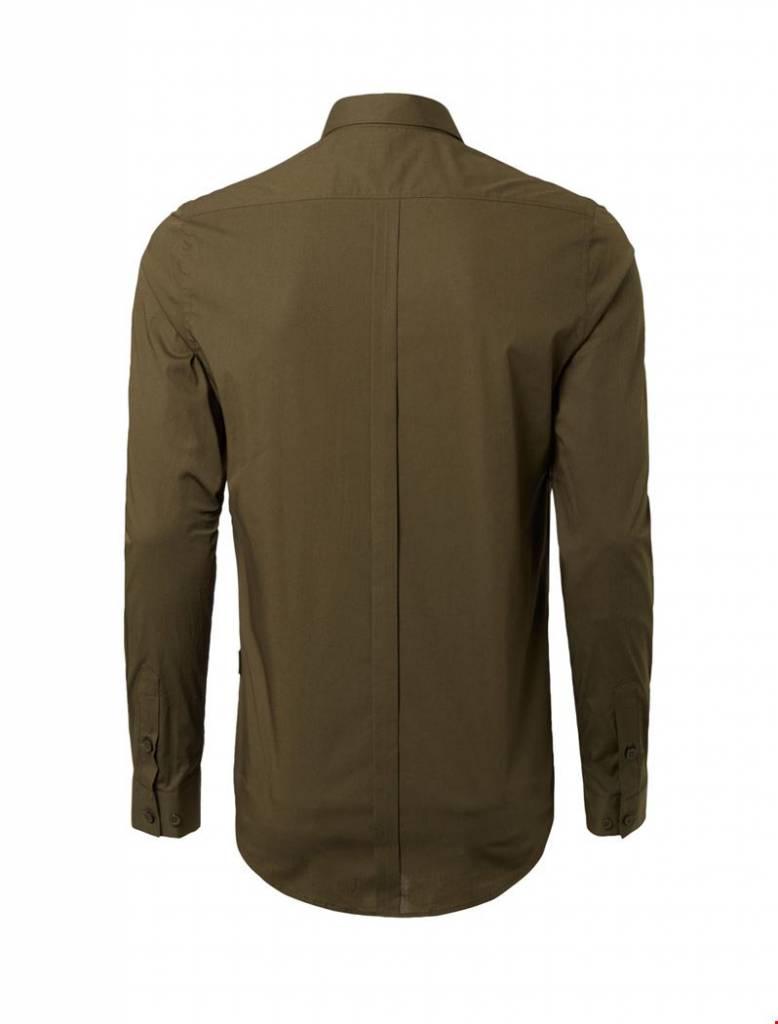 Purewhite Purewhite LS Shirt Army Slim fit