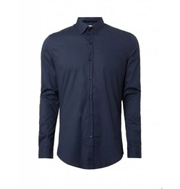Purewhite Purewhite LS Shirt Navy Slim fit