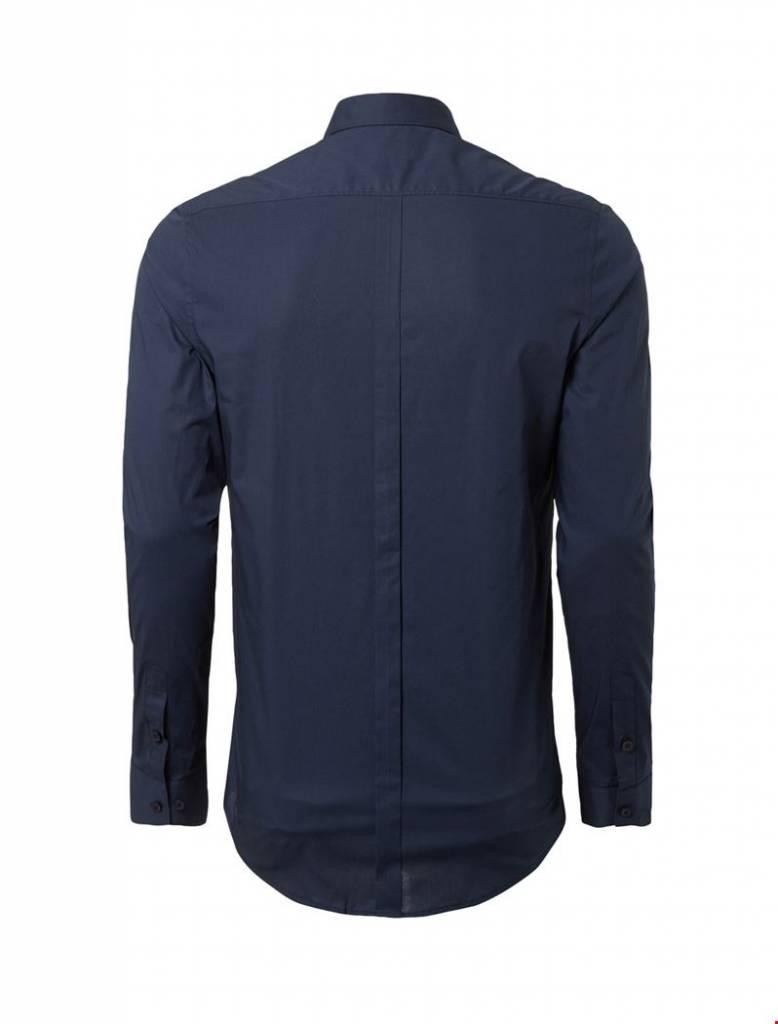 Purewhite Purewhite LS Shirt Navy Slim fit