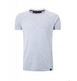 Purewhite Purewhite Printed Neck T-shirt Grey