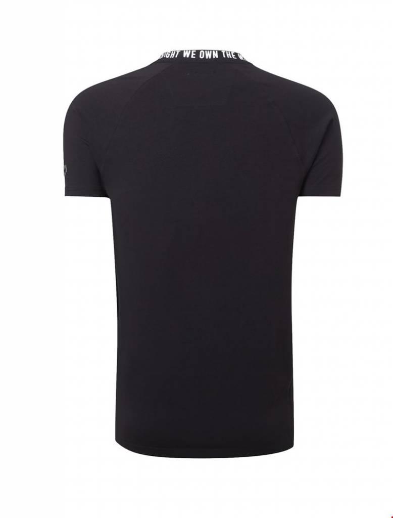 Purewhite Purewhite Printed Neck T-shirt Black
