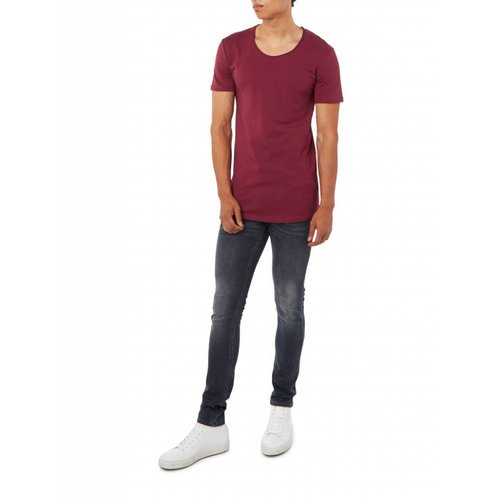 Purewhite Purewhite Long fit Basic Bordeaux