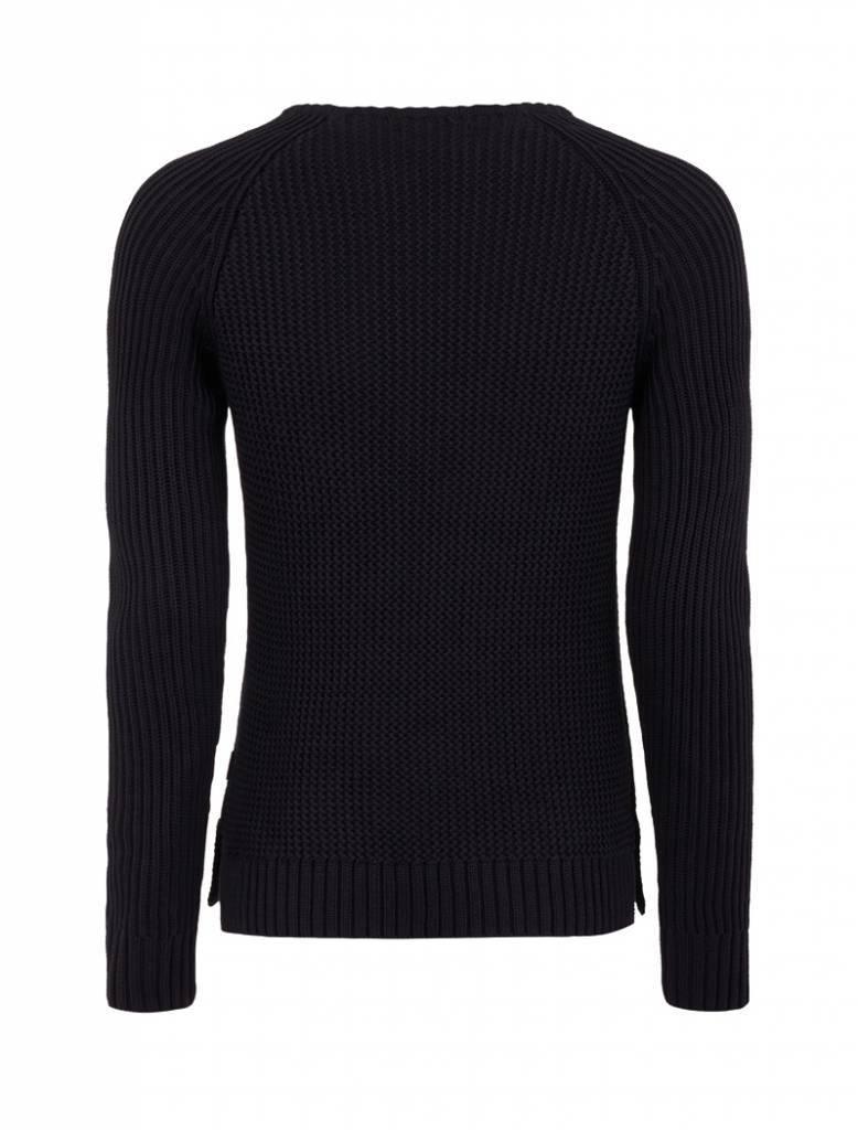 Purewhite Purewhite Knitted Crewneck Black